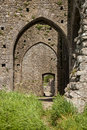 Hore abbey cashel ireland door of the th century on the plain of tipperary in Stock Photography