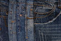 Horisontal denim background, assortment of  jeans Royalty Free Stock Photo