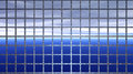 Horizon behind iron bars abstract captivity computer generated image of a blue with autumn clouds metal concept of Stock Images