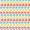 Horizon colourful summer vintage grunge geometric triangle pattern seamless background