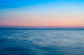 Horizon sea ​​horizon with beautiful sunset colors Royalty Free Stock Photo