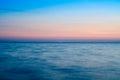 Horizon sea horizon with beautiful sunset colors Royalty Free Stock Photo