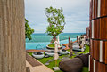 Horizon sea view at pattaya city Royalty Free Stock Image