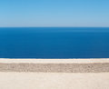 Horizons on top of horizons. Overlooking the sea from above. Royalty Free Stock Photo