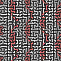 Horizontaal maze vector seamless pattern Royalty-vrije Stock Foto
