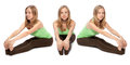 Horizontal assembly of the three angles of a girl Royalty Free Stock Photo