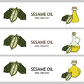 3 horizontal banners, sesame oil in color 2