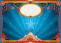 Horizontal blue circus background an for your show Royalty Free Stock Images