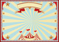 Horizontal blue sunbeams circus