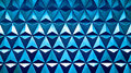 Horizontal blue triangle cells with water drops illustration bac Royalty Free Stock Photo