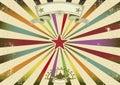Horizontal circus retro party