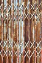 Horizontal door rust Royalty Free Stock Images