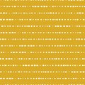 Horizontal dotted lines seamless vector background. White dots on gold background. Aabstract pattern design. Abstract geometric