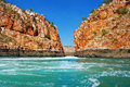 Horizontal falls a natural phenomenon on the coast of the kimberley western australia Stock Photo