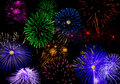 Horizontal Fireworks Royalty Free Stock Photo