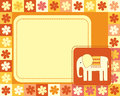 Horizontal frame with elephant Stock Photography