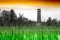 Horizontal landscape with lighthouse background Royalty Free Stock Photo