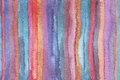 Horizontal large illustration with watercolor vertical stripes in seamless abstract background. Vivid colors, grainy texture, hand Royalty Free Stock Photo