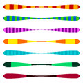 Horizontal line dividers. Set of colorful duotone straight lin