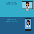 Horizontal medical banners, telemedicine 1
