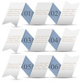 Horizontal origami paper numbered banners Stock Images
