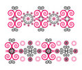Horizontal ornament with flower Royalty Free Stock Photo