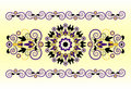 Horizontal ornament with flower Royalty Free Stock Images