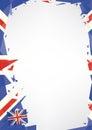 Stock Photos Horizontal poster origami of UK
