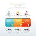 Horizontal puzzle vector illustration of infographic elements Stock Photo