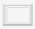 Horizontal rectangular white vector frame