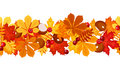 Horizontal seamless background with autumn leaves. Stock Photo