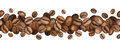 Horizontal seamless background with coffee beans.