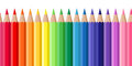 Horizontal seamless background with colored pencil pencils of various colors Royalty Free Stock Image