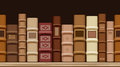 Horizontal seamless background with old books Stock Photo