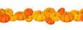 Horizontal seamless background with pumpkins. Royalty Free Stock Photos