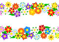 Horizontal seamless flower border Royalty Free Stock Photo