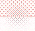 Horizontal seamless geometric pattern with abstract flower ornament. Vector Illustration Royalty Free Stock Photo