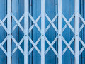 Horizontal shutter doors blue texture Royalty Free Stock Photos