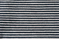 Horizontal stripes black grey close up of thin and material cotton jersey Stock Images