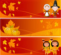Horizontal Thanksgiving Banners Stock Photography