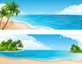 Horizontal tropical Photos libres de droits
