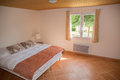 Horizontal view of modern homely bedroom interior Royalty Free Stock Photography