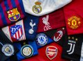 Horizontal view of The Super League or European Super League teams jerseys. annual Royalty Free Stock Photo