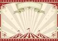 Horizontal vintage circus Royalty Free Stock Photo