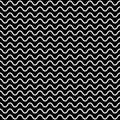 Horizontal wavy lines, vector seamless pattern