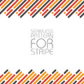 Horizontally seamless pattern with parallel lines in three colors for stripes