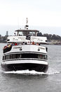 A hornblower cruise ship the in san diego bay these are popular tours along the waterfront Royalty Free Stock Photo