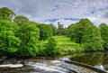 Hornby castle and river Royalty Free Stock Photo