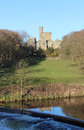 Hornby Castle and River Wenning, Lancashire Royalty Free Stock Photo