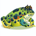 Horned frog. Royalty Free Stock Images